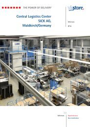 Central Logistics Center SICK AG, Waldkirch/Germany - viastore