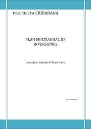 Plan multianual de inversiones - Grupo Propuesta Ciudadana