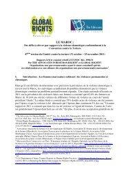 LE MAROC : - The Advocates for Human Rights