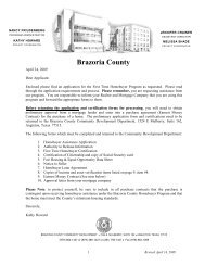 First-Time Homebuyer Application - Brazoria County