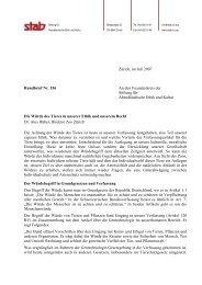 Rundbrief 156 - Stiftung für Abendländische Ethik und Kultur