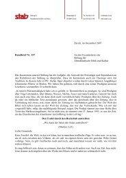 Rundbrief 157 - Stiftung für Abendländische Ethik und Kultur