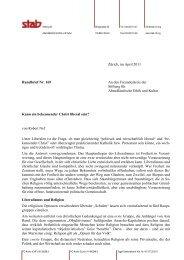 Rundbrief 169 - Stab - Stiftung für Abendländische Ethik und Kultur