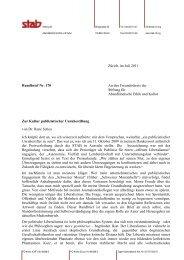 Rundbrief 170 - Stiftung für Abendländische Ethik und Kultur