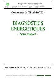 Brigade de gendarmerie - Document sans titre - Tramayes