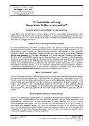 Strassenbeleuchtung Neue Vorschriften – wie ... - Brüniger + Co. AG