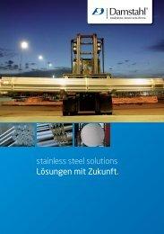 stainless steel solutions Lösungen mit zukunft. - Damstahl