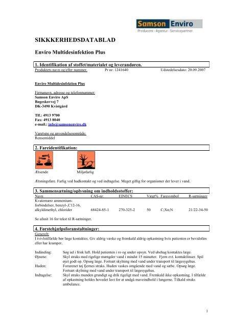 Enviro MultidesinfektionPlus - Hosting by Talk Active