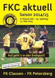 FKC Aktuell - 29. Spieltag - Saison 2014/2015