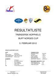 Samlet resultatliste Trøndersk Hopphelg 2012 - opPslaget.no