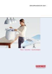 Konzernabschluss für das Geschäftsjahr 2007 - Leifheit