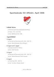 Sportkalender SV Affstätt, April 2006