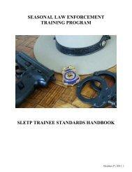 Seasonal Law Enforcement Training Program - Association of ...