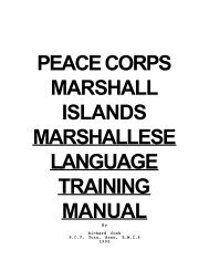 Marshallese Language Training Manual - Linguistics