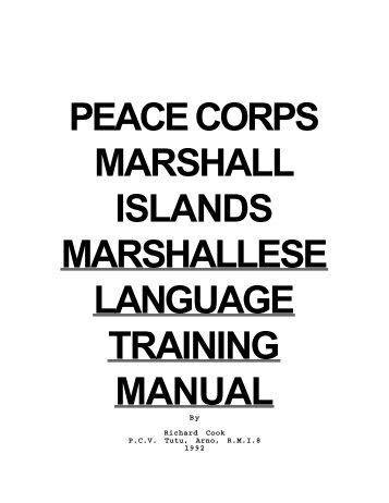 Marshallese Language Training Manual - Linguistics