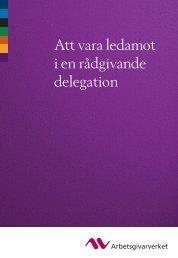 Att vara ledamot i en rådgivande delegation - Arbetsgivarverket