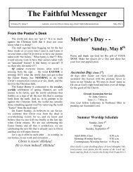 Newsletter - Faith Lutheran Church