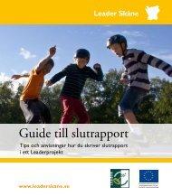 Guide till slutrapport - Leader i Skåne