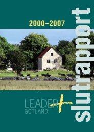 Slutrapport Leader+ Gotland - Svenska nätverket för LEADER+