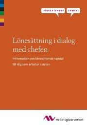 (Lönesättande samtal - lönesättning i dialog med ... - Arbetsgivarverket