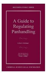 A Guide to Regulating Panhandling - Criminal Justice Legal ...