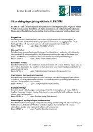 Projektsammanställning Leader YÖ sep 2011.pdf - Leader i Skåne