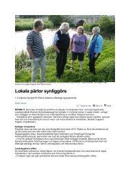 Lokala pärlor synliggörs - Leader i Skåne