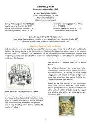 Autumn Newsletter 2013 - Lutheran Church in Great Britain