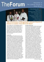 Winter/Epiphany 2010 ISSUE 3 - Lutheran Church in Great Britain
