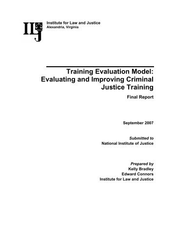 Transfer Of Training Evaluation Model  Employee Development