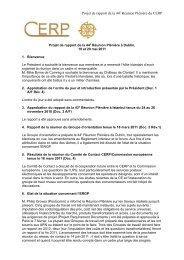 Projet de rapport de la 44 Réunion Plénière du CERP - Cept