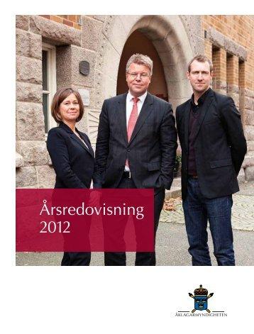 Årsredovisning 2012 - Åklagarmyndigheten