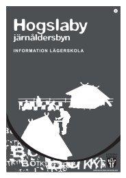 Information för lägerskola på Hogslaby - Boka kultur i Botkyrka