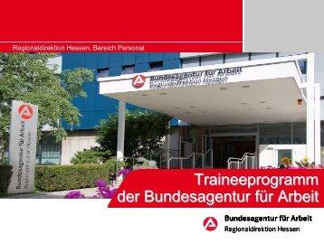 Traineeprogramm 2009 - Bundesagentur für Arbeit