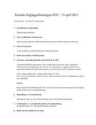 Årsmöte fotgängarföreningen FOT – 13 april 2011