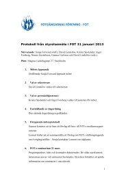 Styrelseprotokoll 130131 - FOT