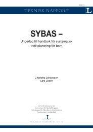 SYBAS - Underlag till handbok för systematisk trafikplanering för barn