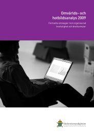 Omvärlds- och hotbildsanalys 2009 - Ekobrottsmyndigheten