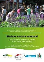 Människan roll i hållbar stadsutveckling och minskad ... - FOT
