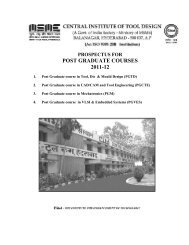 prospectus for post graduate courses 2011-12 - Citdindia.org
