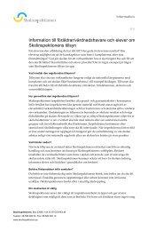 Information till föräldrar/vårdnadshavare och ... - Skolinspektionen