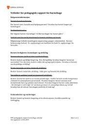 Veileder for pedagogisk rapport for barnehage