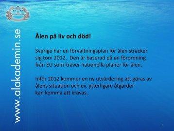 Claes Berkvist presentation inför Riksdagen - Kristianstads Vattenrike