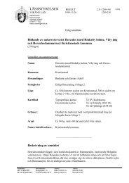 Reservatsbeslut och föreskrifter - Kristianstads Vattenrike