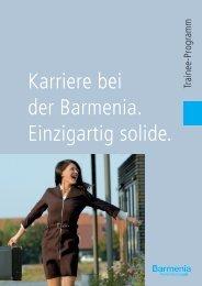 Trainee-Broschüre runterladen (PDF) - Barmenia Versicherungen ...