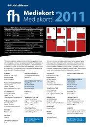 Mediekort Mediakortti2011 - Folkhälsan