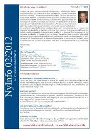 NyInfo 2/2012 - Folkhälsan