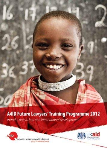 A4ID Future Lawyers' Training Programme 2012