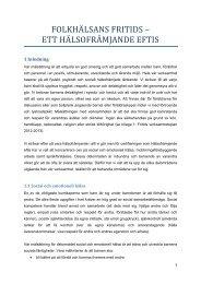 Fritids dokumentering 2013.pdf - Folkhälsan