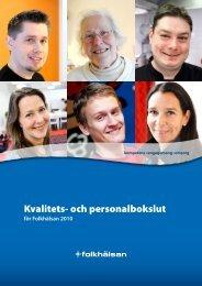 Kvalitets- och personalbokslut - Folkhälsan